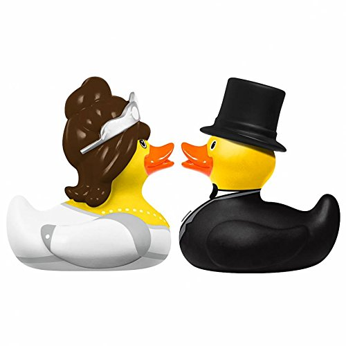DUCKSHOP | Bride and Groom - Rubber Duck | Bathduck | L: 6 cm