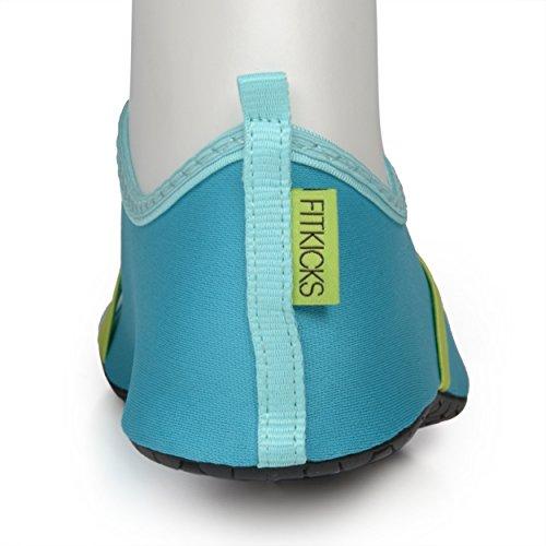 viaggio basse per yoga flessibili Green Turquoise ballerine resistenti da Fitkicks Calzature all'acqua BqUZfZw