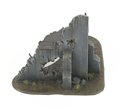 - WWG War Torn City - Ruined Multi-StoreyCornerBuildingwith Firing Hole- 28mmWargamingTerrain WarhammerScenery