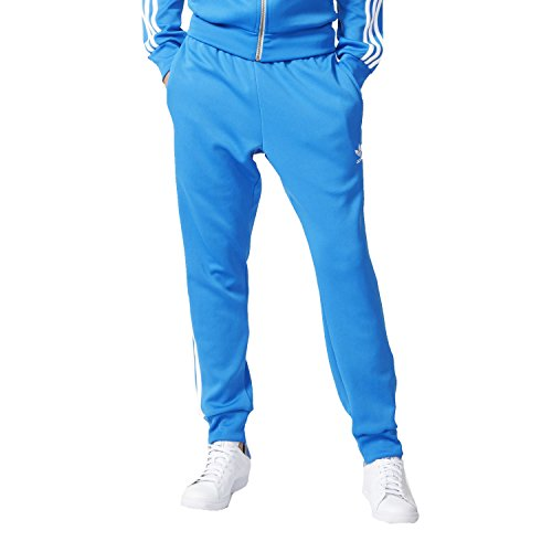 adidas Originals Men's 3 Stripe Superstar Cuffed Track Pants - Blue - XX-Small