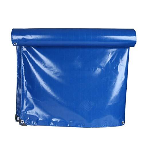 ラッドヤードキップリングおもてなしエスニックトラック防風シート/ブルー0.3ミリメートル防水日焼け止めファームの防水シートのカバーダストシート(350サイズ) (色 : 青, サイズ さいず : 5 * 6m)