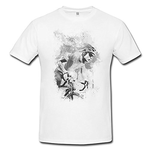 Radsport IV T-Shirt Herren, weiß mit Aufdruck