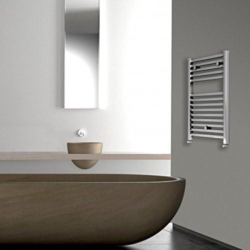 Home Standard/® Porte-serviettes chauffant incurv/é Chrom/é 600 x 800 mm