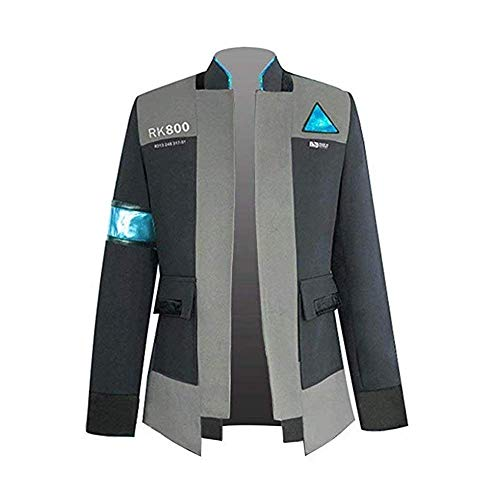 VOSTE Become Human Jacket Halloween Connor Cosplay Costume Full Set Coat for Men (X-Small, Only Jacket 1)