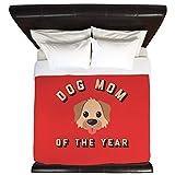 Emoji King Size Duvet CafePress Emoji Dog Mom King Duvet Cover, Printed Comforter Cover, Unique Bedding, Microfiber
