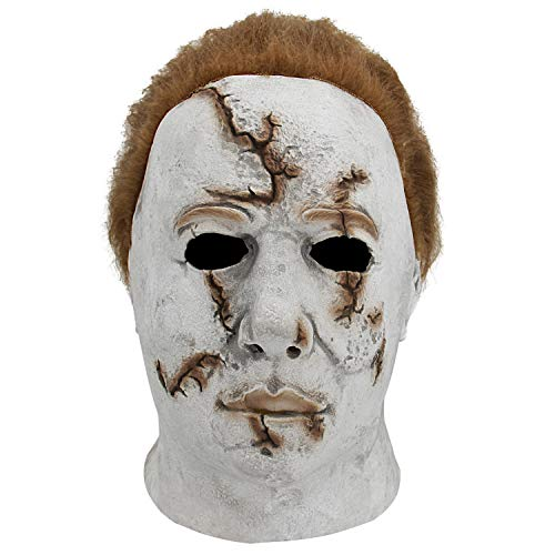 Halloween Mask Movie Cosplay Costumes Mask Delux Full Head Mask T008B]()