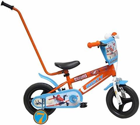 Disney Bicicleta Niño Planes con Barra de Aprendizaje 10 pulg ...