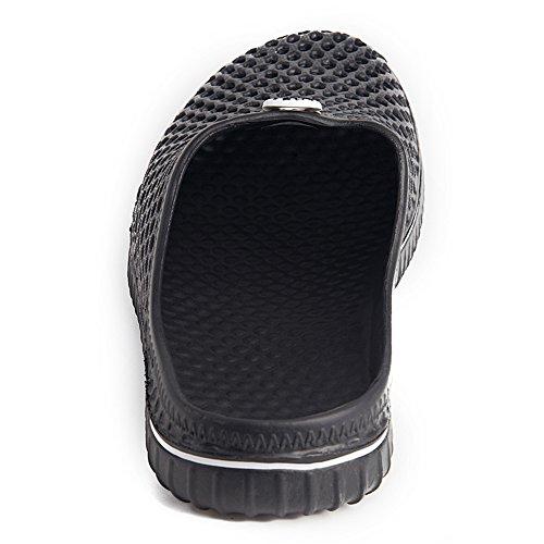 Putitower Unisex Garden Zuecos Zapatos Sandal Comfortable Slippers Black