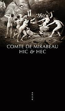Hic et Hec par Mirabeau