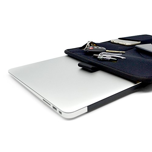 Price comparison product image Neoprene Laptop Sleeve for MacBook Air Pro by NEET Products,  Ultra Slim,  Stylish,  Protective Wetsuit Material,  Cool Gadget Pockets,  Easy Carry Handle Strap,  Carries 13.3'' Laptop,  Tablet & More