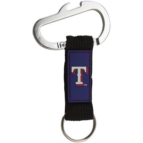 Pro Specialties Group MLB Texas Rangers Carabineer Keychain, Navy, One Size