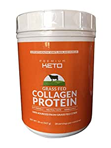Premium Keto 100% Pure Hydrolyzed Collagen Protein - Grass-Fed, Certified Bovine Collagen Supplements, Paleo Friendly, Non-Gmo - Easy to Mix Unflavored (20 oz)