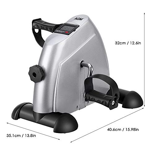 Mini Exercise Bike Pedal Exerciser Portable Cycle Arm and Leg Exerciser with LCD Display by AGM (Image #1)