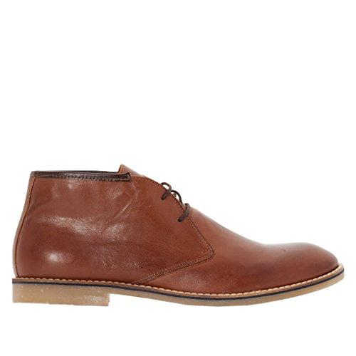 La Redoute Collections Uomo Boots Pelle con Lacci Chah 16 Marrone