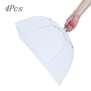 17inches 4 Pcs Mesh Screen Food Cover Tents/Table cover Patio Pop-Up Collapsible Food Cover/Protector Home/Outdoor Keep Out Flies, Bugs, Mosquitoes Picnics, BBQ