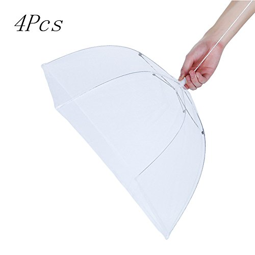 Cheap  17inches 4 Pcs Mesh Screen Food Cover Tents/Table cover Patio Pop-Up Collapsible..
