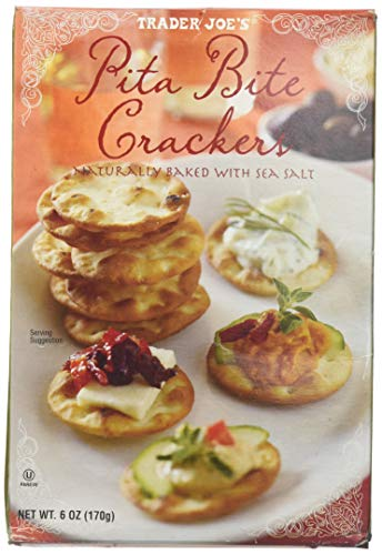 Trader Joe's Pita Bite Crackers with Sea Salt 6 oz. (Pack of -
