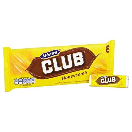 McVitie's Club Honeycomb 8 x 22.5g - Pack of (Jacobs Club)