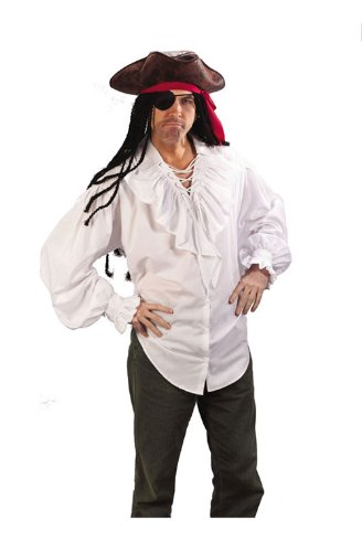 Swashbucklin' White Pirate Shirt - Sexy Pirate Man