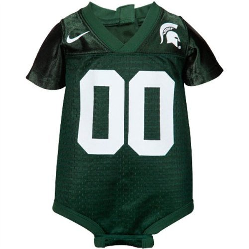 Michigan State Spartans Nike Baby Football Jersey Creeper (18 Months) State Nike Football Jersey