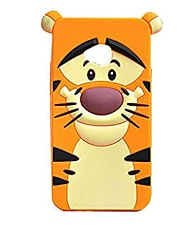LS620 Tiger Silicone Case,LS620 Animal Case,WGOOD Cute Animal Yellow Tiger Soft Silicone Gel Rubber Protection Skin Case Cover for LG Realm (Disney Lg Realm Cases)