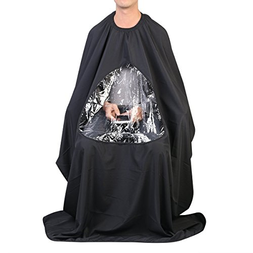 Healthcom Professional Hair Salon Cape Waterproof Nylon Hair Styling Haircutting Cape Clear Viewwing Window Nylon Haircut Apron