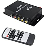 QSICISL Car Digital TV Receiver 180KM/H Car TV Tuner Receiver Box with Antenna 4 Video Output for Brazil Chile Argentina Venezuela Peru South America