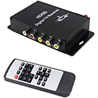QSICISL Car Monitor ISDB-T Digital Mobile TV Tuner Receiver Box with Antenna for South America( Brazil,Chile,Venezuela)