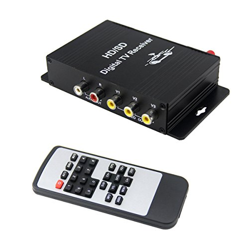 QSICISL Car Digital TV receiver 180KM/H Car TV Tuner Receiver Box with Antenna 4 video output For Brazil chile Argentina Venezuela Peru South America South America Brazil