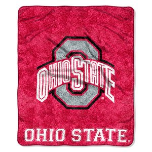 The Northwest Company NCAA Ohio State Buckeyes 50-Inch-by-60-Inch Sherpa on Sherpa Throw Blanket Jersey Design