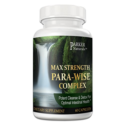 Intestinal Cleanse for Humans, Extra Strength, With Black Walnut Hull, Wormwood, Echinacea + 15 More Premium Ingredients, Non-GMO, 1485mg, 30 servingss