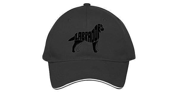Amazon.com: Labrador Retriever Dog Art Black Adjustable Snapback Cap Cotton Kelvigibbs Hat Baseball Caps Male/female: Clothing