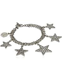 Rock Star Swarovski Crystal Silver Chain Bracelet