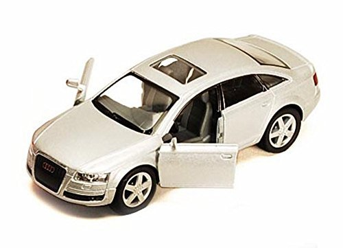 audi-a6-silver-kinsmart-5303d-1-38-scale-diecast-model-toy-car-brand-new-but-no-box