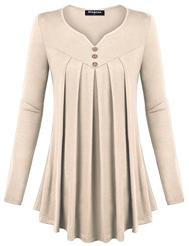 Pleated Button Front Shirt - 3