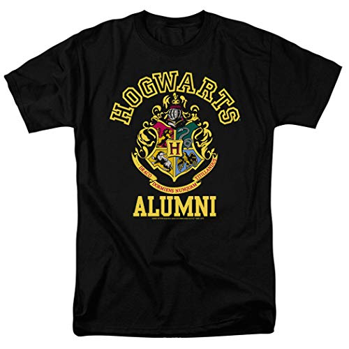 Popfunk Harry Potter Hogwarts Alumni T Shirt & Stickers (Small) Black (Alumni Clothing)