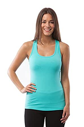 90 Degree By Reflex - Power Flex Racerback Tank Top - Aqua Sky - XS