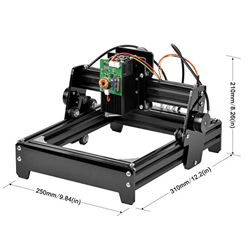 SHUOGOU 15W Laser Engraving, High Speed Mini Laser Carving Machine Engraver, Portable Household Art Craft DIY Laser Engraver Printer, Mini Cutter Carving Machines with Protective Glasses by SHUOGOU (Image #2)