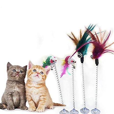 Amazon.com: HBK - Juguetes para gatos con diseño de plumas ...