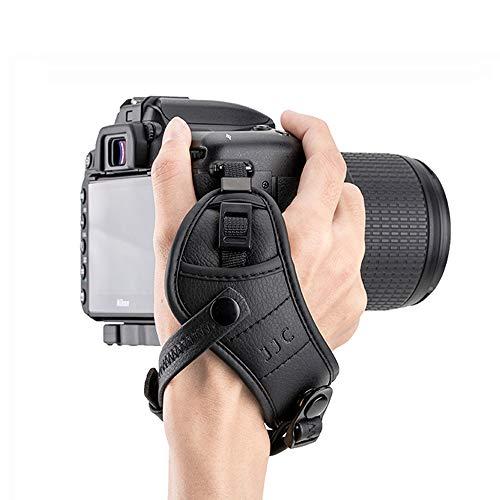 Camera Hand Grip Strap JJC DSLR Wrist Strap for Canon 7D 6D 5D 5Ds 5Ds R 1Dx T7 T6 T5 T3 T7i T6s T6i T5i SL2 SL1 80D 77D Nikon D5 D4s D4 D850 D810 D3500 D3400 D7500 D7200 D5600 D5500,etc -Black