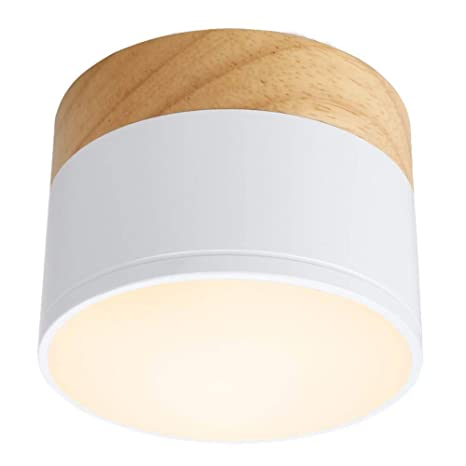 Kolalala LED Luces De Techo Downlight De Madera Nórdica ...