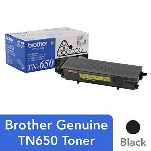 - Brother Genuine High Yield Toner Cartridge, TN650, Replacement Black Toner, Page Yield Up To 8,000 Pages