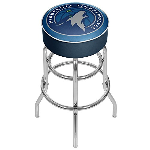 NBA Minnesota Timberwolves Padded Swivel Bar Stool by Trademark Gameroom