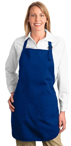 Port Authority - Full Length Apron with Pockets. A500 - Royal_OSFA