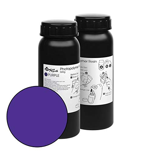 SLA or DLP Technology Photopolymer Resin for 3D Printing- Purple (500ml – 2 Bottle)
