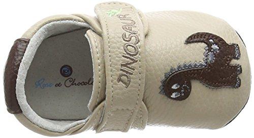 Rose & Chocolat RCM, Unisex - Mocasines para bebé-niños, Marrón (Baby Dino Brown)