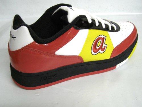 Reebok Mlb Clubhouse Style Exclusif 168948 Atlanta Braves Chaussures Blanc Hommes Blanc / Rouge / Noir / Jaune: Braves