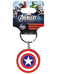 Plasticolor 004339R01 Marvel 'Captain America' Metal Keychain