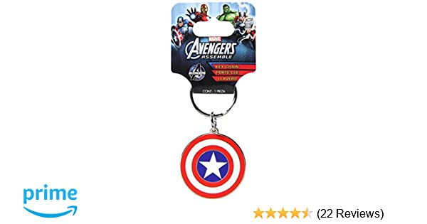 Plasticolor 004339R01 Marvel Captain America Metal Keychain
