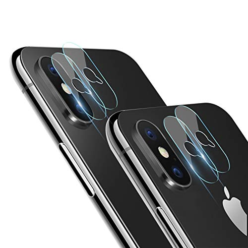 iPhone X Camera Lens Protector - [4 Pack] ICHECKEY Super Clear Ultra HD Back Camera Lens Tempered Glass Screen Cover Film Shield for Apple iPhone X/iPhone 10, 5.8 Inch